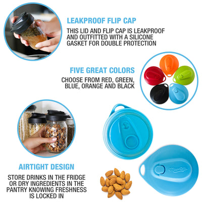 Multi Top Flip Cap Lids