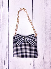 Load image into Gallery viewer, BLACK AND WHITE CHECKERED TOP WITH MATCHING BAG by Archie & Winston