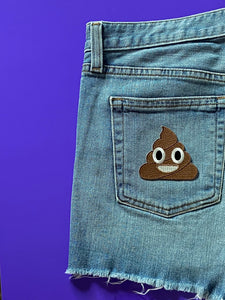 POOP EMOJI  Iron On Patch