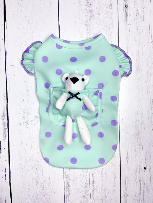 CARRY ME POCKET TEE & TEDDY BEAR TOY by Archie & Winston