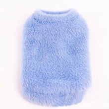 Load image into Gallery viewer, BLUE FAUX FUR Dog Vest