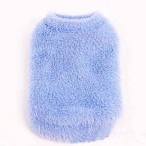 BLUE FAUX FUR Dog Vest