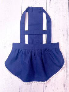 DENIM BIB DRESS by Archie & Winston