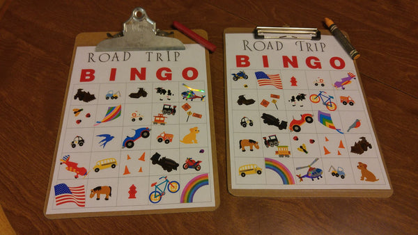 Mrs. Grossman's Road Trip Bingo