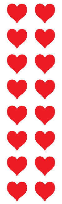 Red Hearts, sm, stickers, Mrs. Grossman's Sticker Factory