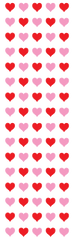 Micro Red & Pink Hearts