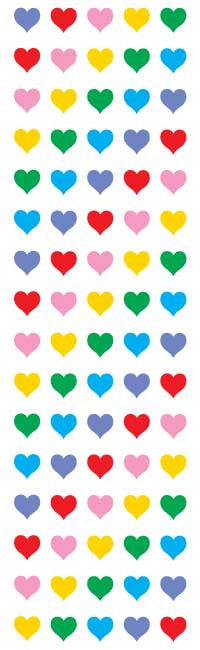 Micro Hearts, sticker, Mrs. Grossman's Sticker Factory