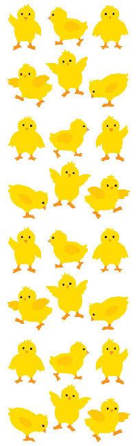 Chicks, sticker, Mrs. Grossman's Stickers