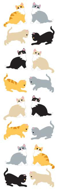 Kittens, stickers, Mrs. Grossman's Sticker Factory