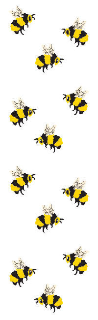 Bees, sticker, Mrs. Grossman's Stickers