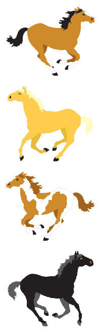 Horse stickers, Available here, at Mrs. Grossman's online sticker shop!