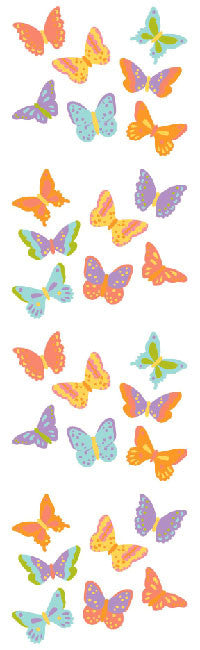 Bitsy Butterflies, sticker, Mrs. Grossman's Stickers