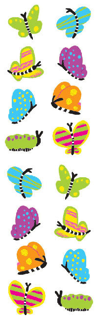 Chubby Butterflies, sticker, Mrs. Grossman's Stickers