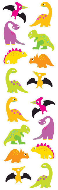 Chubby Dinosaurs, sticker, Mrs. Grossman's Stickers