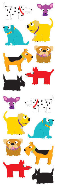 Chubby Dogs, sticker, Mrs. Grossman's Stickers