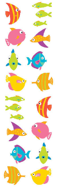Chubby Fish, sticker, Mrs. Grossman's Stickers