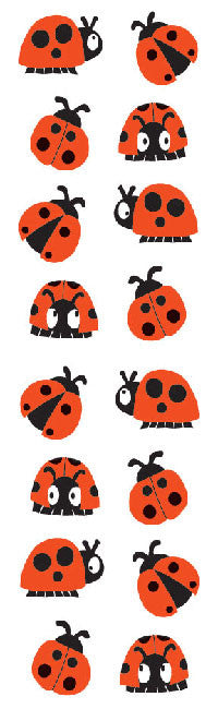 Chubby Ladybugs, sticker, Mrs. Grossman's Stickers