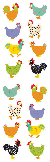 Chubby Chickens, sticker, Mrs. Grossman's Stickers