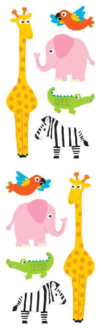 Chubby Zoo Animals, sticker, Mrs. Grossman's Stickers