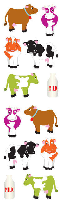 Chubby Cows, sticker, Mrs. Grossman's Stickers