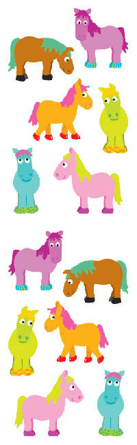 Chubby Ponies, sticker, Mrs. Grossman's Stickers