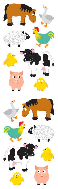 Chubby Farm Animals, sticker, Mrs. Grossman's Stickers