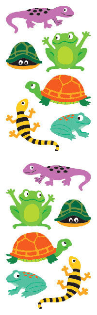 Chubby Amphibians, sticker, Mrs. Grossman's Stickers