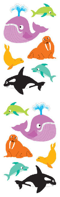 Chubby Sea Mammals, sticker, Mrs. Grossman's Stickers