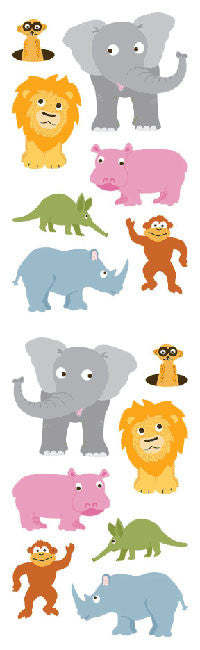 Chubby Jungle Animals, sticker, Mrs. Grossman's Stickers
