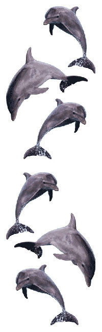Dolphin Trio, sticker, Mrs. Grossman's Stickers