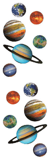 Planets, sticker, Mrs. Grossman's Stickers