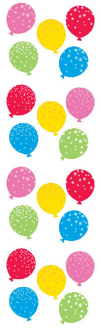 ~ Reflections Balloons Birthday Patterned Silver Gold Mrs Grossman Stickers ~