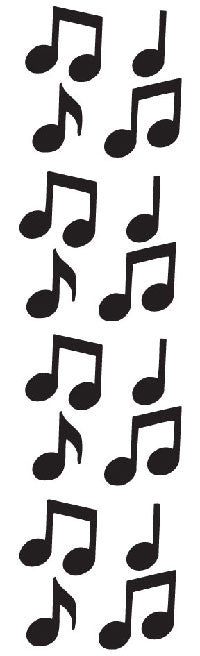 Music Notes Stickers, black - Mrs. Grossman's