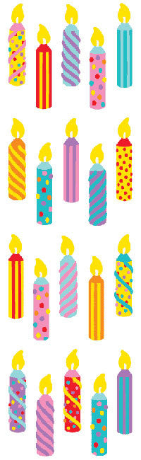 Candles Stickers - Mrs. Grossman's