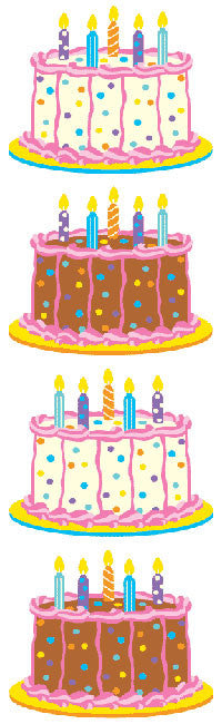 Birthday Cake Stickers - Mrs. Grossman's