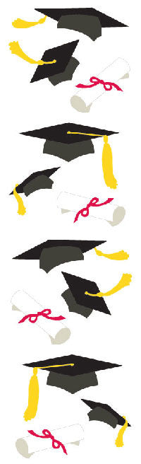 Graduation Hats , sticker, Mrs. Grossman's stickers