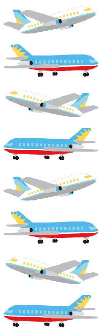 Airliners, sticker, Mrs. Grossman's Stickers