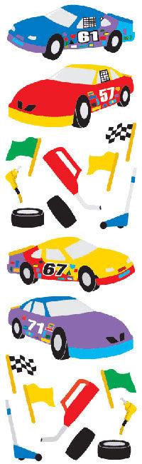 Race Cars, stickers, Mrs. Grossman's Sticker Factory