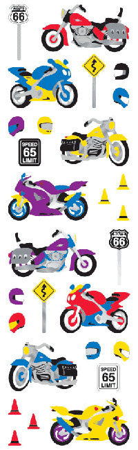 Motorcycles, stickers, Mrs. Grossman's Sticker Factory