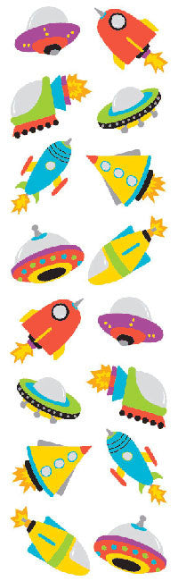 Chubby Rocketships, sticker, Mrs. Grossman's Stickers
