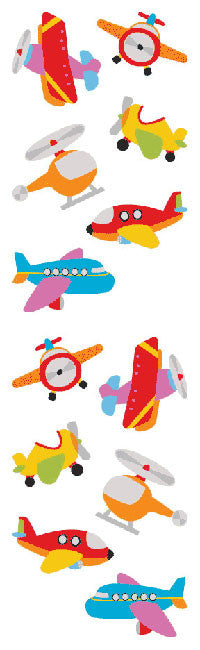 Chubby Airplanes, sticker, Mrs. Grossman's Stickers