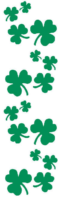Shamrocks, stickers, Mrs. Grossman's Sticker Factory