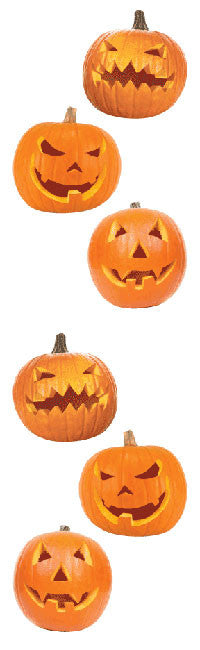 Jack-o-Lanterns, Carved. Available here, at Mrs. Grossman's online sticker shop!