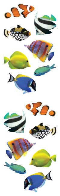 Tropical fish, stickers, Mrs. Grossman's Sticker Factory
