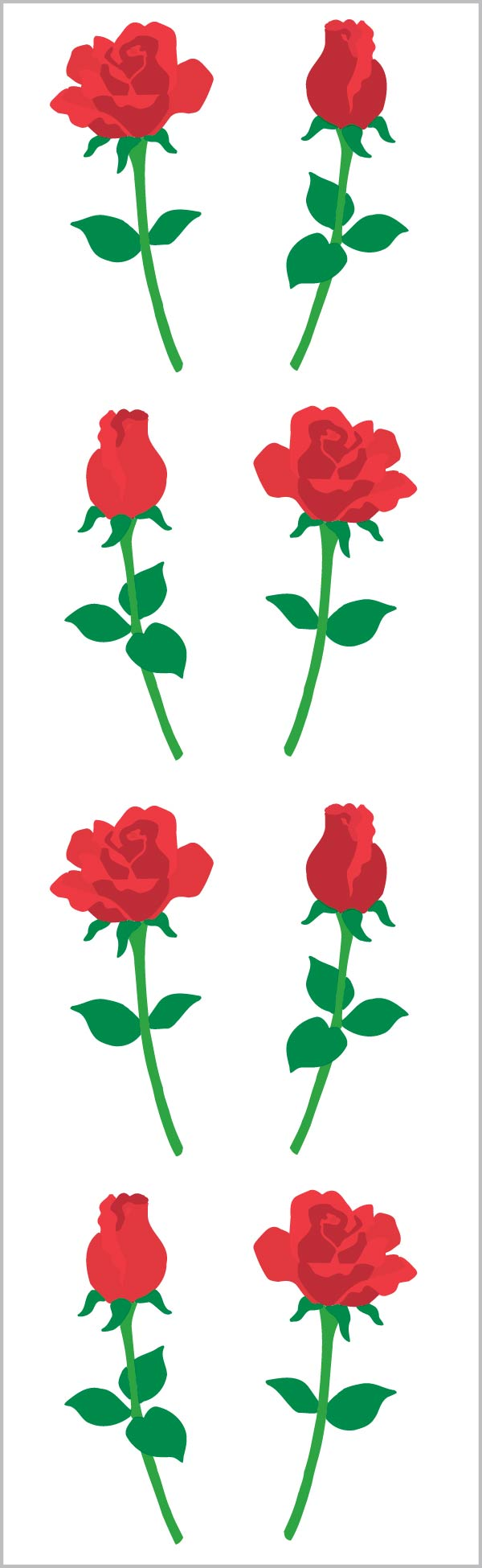 Red Roses Stickers, Small - Mrs. Grossman's
