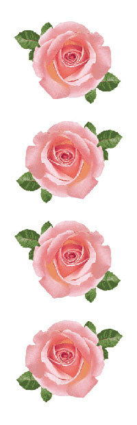 Pink Rose Stickers - Mrs. Grossman's