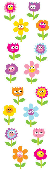 Chubby Flowers, sticker, Mrs. Grossman's Stickers