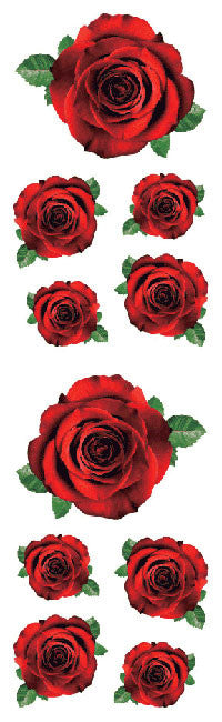 Red Roses, Stickers, Mrs. Grossman's Sticker Factory