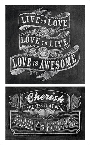Chalk Talk Live to Love Stickers - Mrs. Grossman's