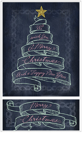 chalk talk merry christmas banner stickers